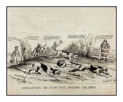 Peter Gumaer Ogden - 1845 Texas Mexico Annexation Cartoon