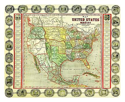 Peter Ogden - 1846 Map of the U S  including Oregon Texas Old California and New California