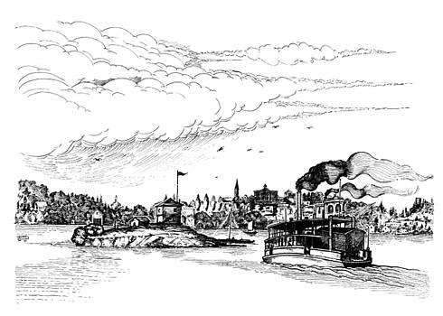 1859 Blockhouse Island Brockville Ontario by John Cullen