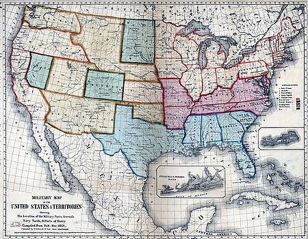 1861 US Military Map by Maciek Froncisz