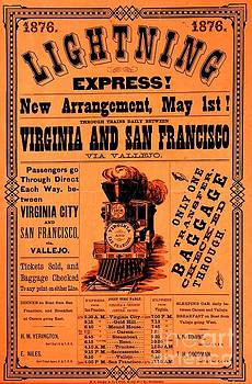 Peter Ogden - 1876 Lightning Express Virginia and San Francisco Railroad to the Nevada Silver Mining Cities