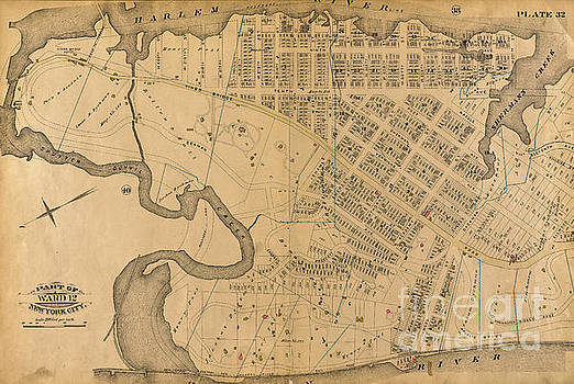1885 Inwood Map  by Cole Thompson