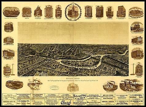 Peter Ogden - 1892 Dallas Texas Panoramic Map