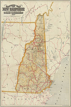 Toby McGuire - 1892 Railroad Commissioners Map NH