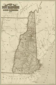 Toby McGuire - 1892 Railroad Commissioners Map NH Sepia