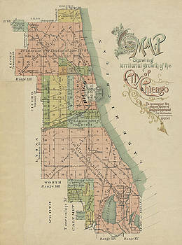Toby McGuire - 1896 Map Showing Territorial Growth of the City of Chicago