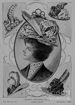 R Muirhead Art - 19 century ladies Hats The Delineator Jaunty Walking Hats