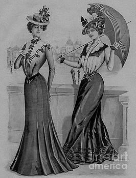 R Muirhead Art - 19 century ladies Umbrella  The Delineator Jaunty Walking Umbrella