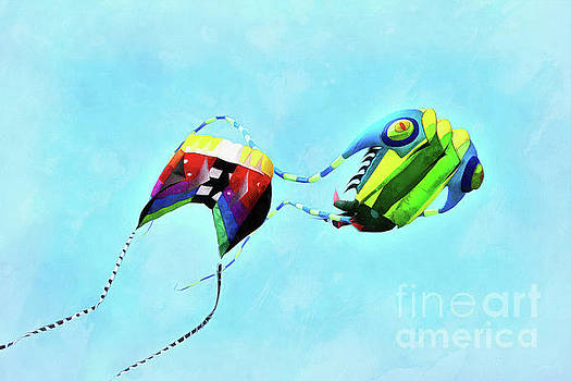 Kites flying during Kite festival by George Atsametakis