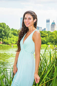 Alexander Image - Young American Woman traveling, relaxing at Central Park, New Yo