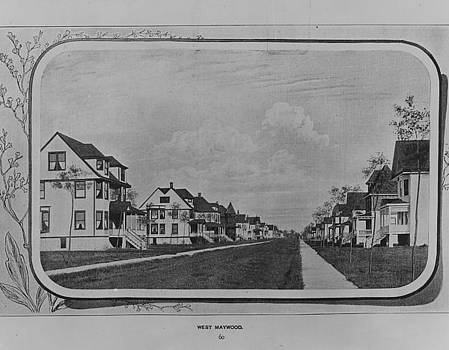 Chicago and North Western Historical Society - 1900 Photo of Maywood Illinois