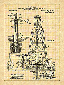 1911 Oil Well Patent by Barry Jones