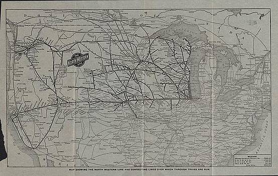 Chicago and North Western Historical Society - 1912 Chicago and North Western National Route Map