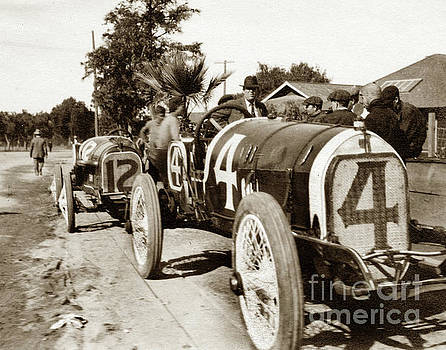 California Views Mr Pat Hathaway Archives -  1914 Corona, Calif. road race. Race car # 4 Eddie Pullen, Merce