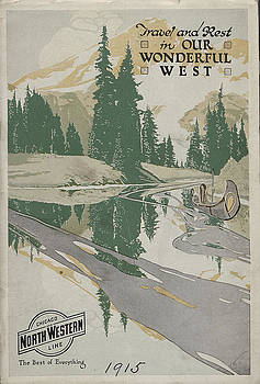 Chicago and North Western Historical Society - Illustration From 1915 Travel and Rest in Our Wonderful West Brochure