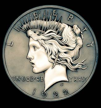 1922 Ghost Peace Dollar by Fred Larucci