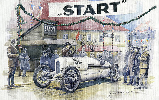 1924 Zbraslav-Jiloviste Regularity Ride to the Top Start Walter W-0 by Yuriy Shevchuk