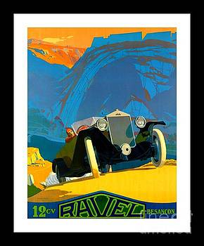 Peter Gumaer Ogden - 1925 Art Deco Ravel Motorcar Advertising Poster by Lucien Pillot