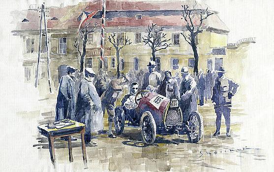 1922 Zbraslav Jiloviste Start Bugatti T13 Brescia. by Yuriy Shevchuk