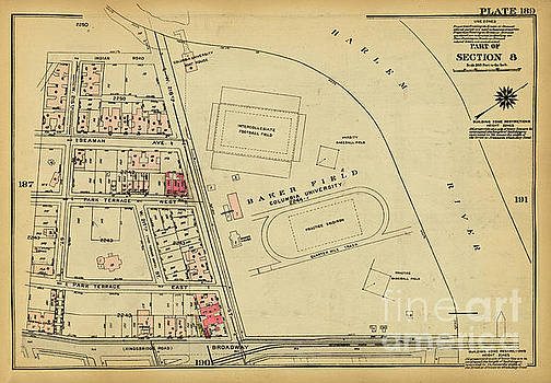 1927 Baker Field Map  by Cole Thompson