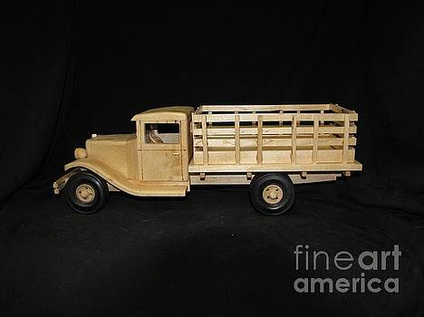 1929 Stake Bed Truck by Marilyn Carlyle Greiner