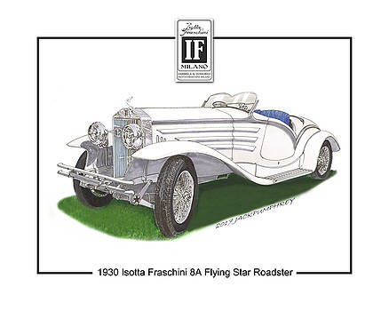 1930 Isotta Fraschini 8A Flying Star Roadster by Jack Pumphrey