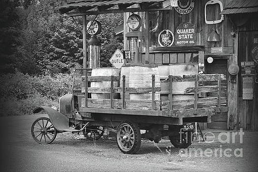 1930s Gas Stop BW by Ansel Price