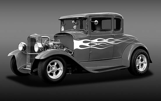 1931 Ford Model A 5 Window Coupe  -  1931ford5winmdlacpebw172189 by Frank J Benz