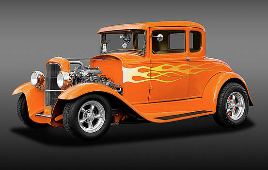 1931 Ford Model A 5 Window Coupe  -  1931fordmdlacoupefa172189 by Frank J Benz