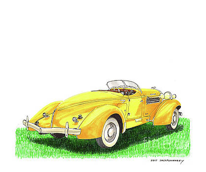 Jack Pumphrey - 1936 Auburn 852 sc boattail speedster