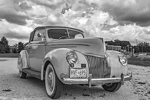 Steve Harrington - 1939 Ford Deluxe Convertible bw