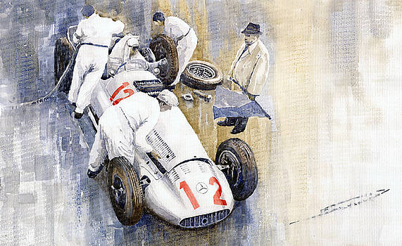 1939 German GP MB W154 Rudolf Caracciola winner by Yuriy  Shevchuk