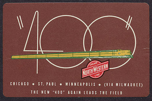 Chicago and North Western Historical Society - 1940 Calendar Promoting 400 Streamliner