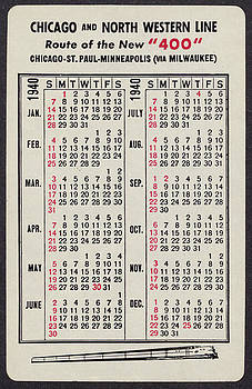 Chicago and North Western Historical Society - 1940 Calendar Promoting New 400 Line