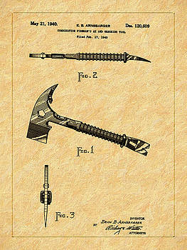 1940 Fire Ax and Wrecking Tool Patent by Barry Jones