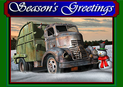 1940 GMC Christmas Card by Stuart Swartz