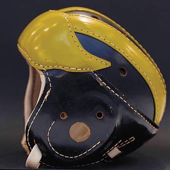 1940s leather Wolverine helmet by Michigan Helmet