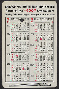 Chicago and North Western Historical Society - 1948-49 Train Calendar