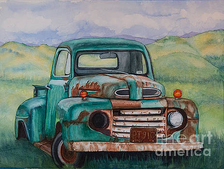 1948 Ford Pickup Rusty Gem  by DJ Laughlin