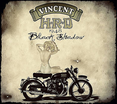 1948 Vincent Black Shadow by Cinema Photography