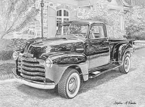 1949 Chevrolet Pickup TRUCK ART PRINT by Stephen Rooks