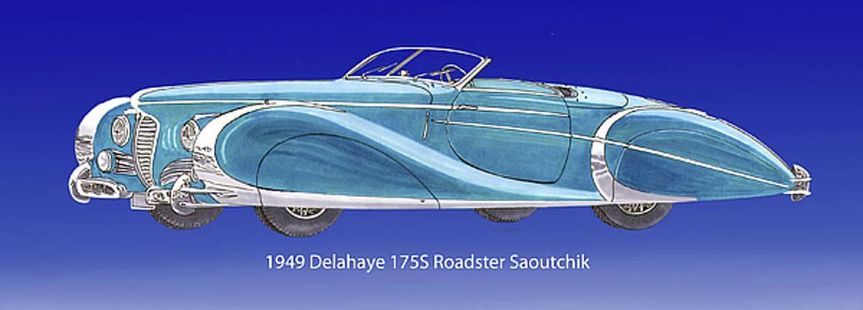 1949 Delahaye 175 S Saoutchik Roadster by Jack Pumphrey