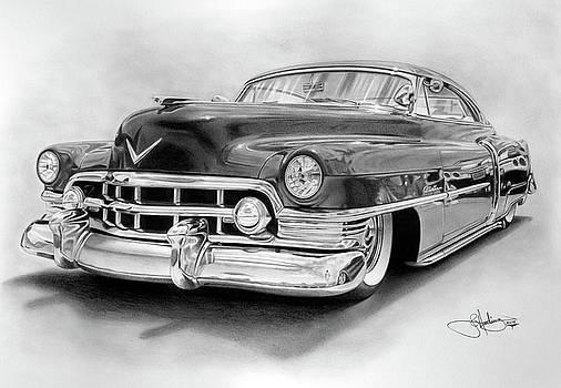 1950 Cadillac drawing by John Harding
