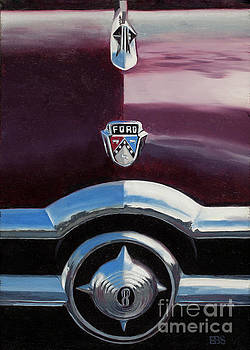 1950 Ford Crestline by Elaine Brady Smith Art by Elaine Brady Smith