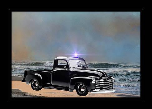1951 Black Chevy Truck by Ericamaxine Price