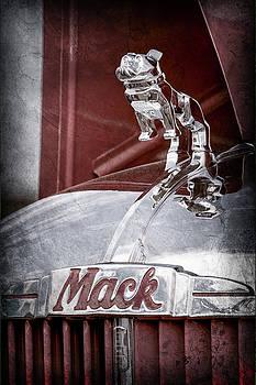 Jill Reger - 1952 L Model Mack Pumper Fire Truck Hood Ornament -0179ac