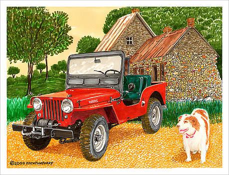 Jack Pumphrey - 1953 Jjeep and Gus
