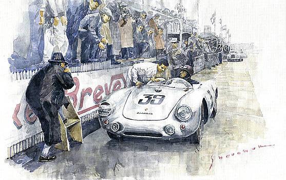 1954 Le Mans 24 Porsche 550 Hans Herrmann. by Yuriy Shevchuk