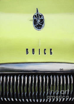 1954 Yellow Buick by Elaine Brady Smith