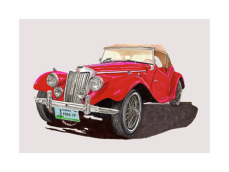 Jack Pumphrey - 1955 M G T F Sports Car